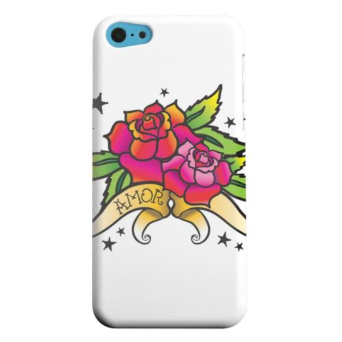 Geeks Designer Line (GDL) Apple iPhone 5C Matte Hard Back Cover - Amor Rose