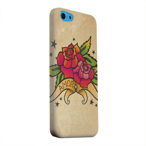 Geeks Designer Line (GDL) Apple iPhone 5C Matte Hard Back Cover - Armor Rose Grunge