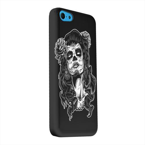 Geeks Designer Line (GDL) Apple iPhone 5C Matte Hard Back Cover - Day of the Dead Girl on Black