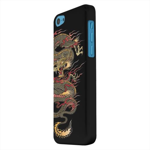 Geeks Designer Line (GDL) Apple iPhone 5C Matte Hard Back Cover - Dragon on Black
