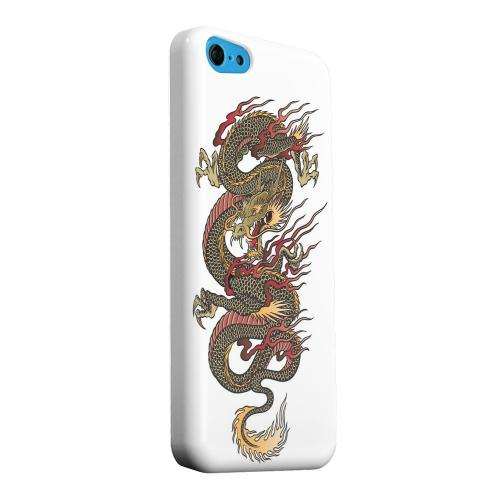 Geeks Designer Line (GDL) Apple iPhone 5C Matte Hard Back Cover - Dragon on White