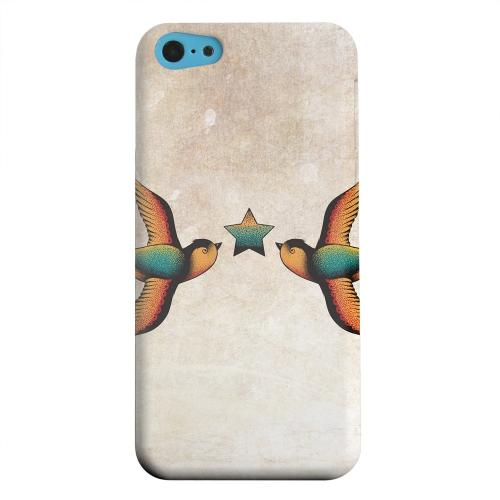 Geeks Designer Line (GDL) Apple iPhone 5C Matte Hard Back Cover - Dual Swallow Star