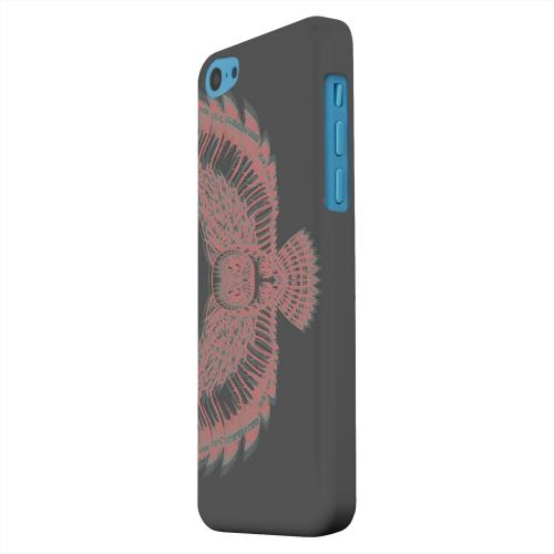 Geeks Designer Line (GDL) Apple iPhone 5C Matte Hard Back Cover - Flying Owl 3D-Esque