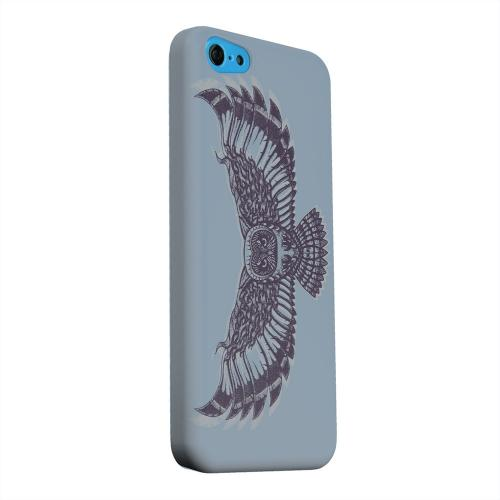Geeks Designer Line (GDL) Apple iPhone 5C Matte Hard Back Cover - Flying Owl Blue/ Gray