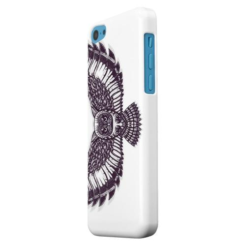 Geeks Designer Line (GDL) Apple iPhone 5C Matte Hard Back Cover - Flying Owl on White