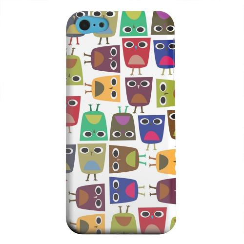 Geeks Designer Line (GDL) Apple iPhone 5C Matte Hard Back Cover - Quadrilateral Owl Configuration