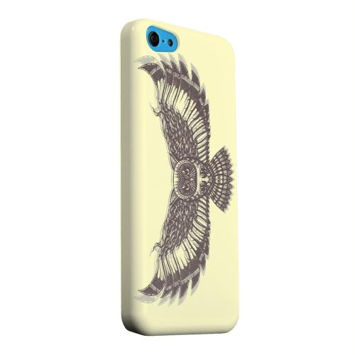 Geeks Designer Line (GDL) Apple iPhone 5C Matte Hard Back Cover - Flying Owl on Yellow