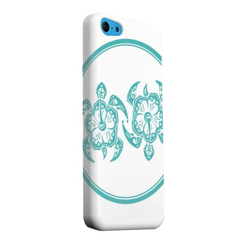 Geeks Designer Line (GDL) Apple iPhone 5C Matte Hard Back Cover - Aqua Island Turtle Duo