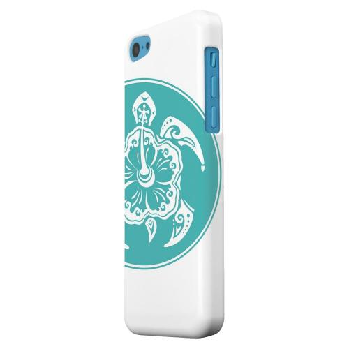 Geeks Designer Line (GDL) Apple iPhone 5C Matte Hard Back Cover - Aqua Island Turtle Solo