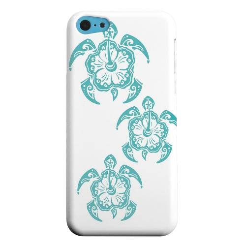 Geeks Designer Line (GDL) Apple iPhone 5C Matte Hard Back Cover - Aqua Island Turtle Trail