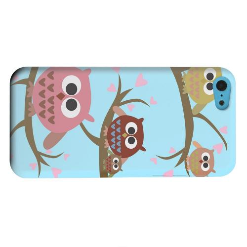 Geeks Designer Line (GDL) Apple iPhone 5C Matte Hard Back Cover - Round Owl Hangout