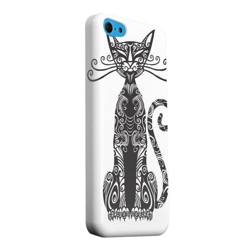 Geeks Designer Line (GDL) Apple iPhone 5C Matte Hard Back Cover - Kitty Nouveau on White