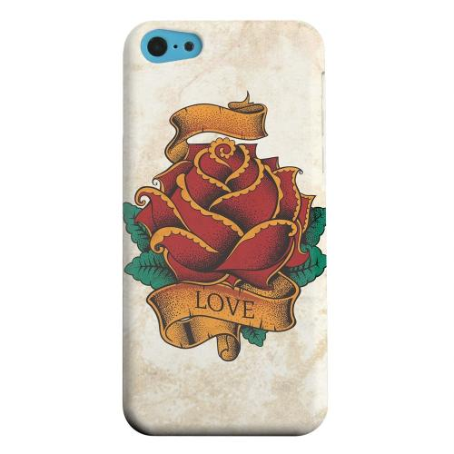 Geeks Designer Line (GDL) Apple iPhone 5C Matte Hard Back Cover - Love Rose