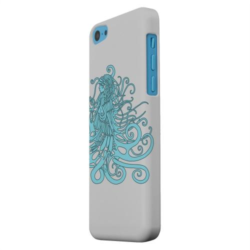 Geeks Designer Line (GDL) Apple iPhone 5C Matte Hard Back Cover - Aqua Medusa on White