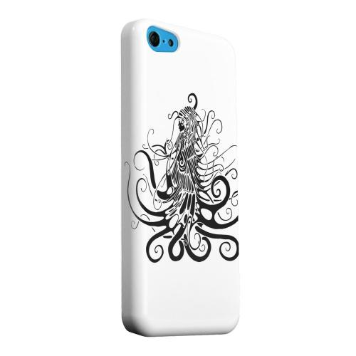 Geeks Designer Line (GDL) Apple iPhone 5C Matte Hard Back Cover - Black Medua on White