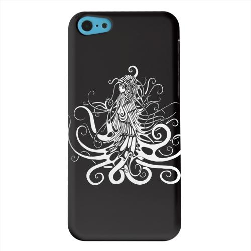 Geeks Designer Line (GDL) Apple iPhone 5C Matte Hard Back Cover - White Medusa on Black