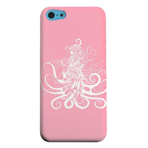 Geeks Designer Line (GDL) Apple iPhone 5C Matte Hard Back Cover - White Medusa on Pink