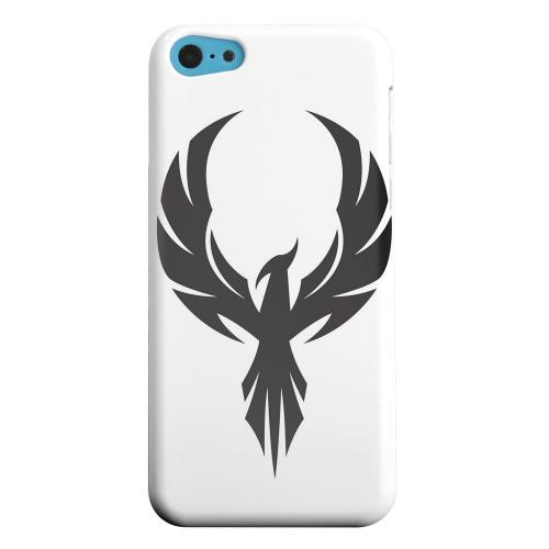 Geeks Designer Line (GDL) Apple iPhone 5C Matte Hard Back Cover - Black Phoenix on White