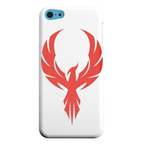 Geeks Designer Line (GDL) Apple iPhone 5C Matte Hard Back Cover - Phoenix Red on White