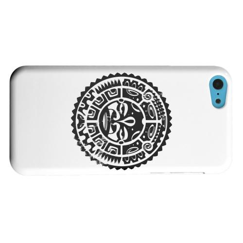 Geeks Designer Line (GDL) Apple iPhone 5C Matte Hard Back Cover - Polynesian Face