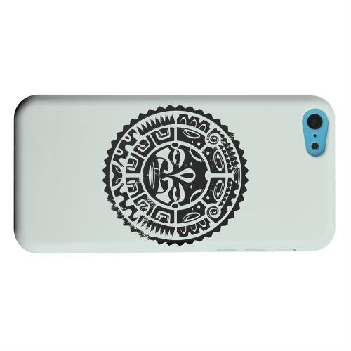 Geeks Designer Line (GDL) Apple iPhone 5C Matte Hard Back Cover - Polynesian Face on Gray