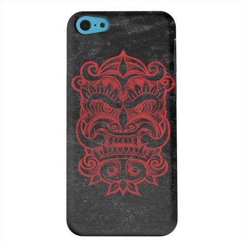 Geeks Designer Line (GDL) Apple iPhone 5C Matte Hard Back Cover - Red Devil Mask