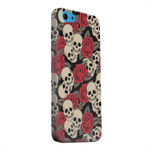 Geeks Designer Line (GDL) Apple iPhone 5C Matte Hard Back Cover - Rose Skulls