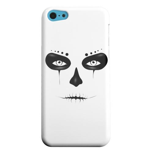 Geeks Designer Line (GDL) Apple iPhone 5C Matte Hard Back Cover - Skull Face
