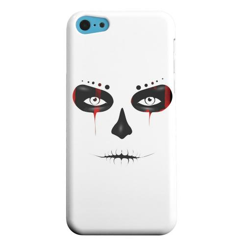 Geeks Designer Line (GDL) Apple iPhone 5C Matte Hard Back Cover - Skull Face Blood