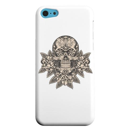 Geeks Designer Line (GDL) Apple iPhone 5C Matte Hard Back Cover - Skull Roses