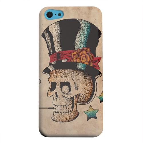 Geeks Designer Line (GDL) Apple iPhone 5C Matte Hard Back Cover - Smoking Skull