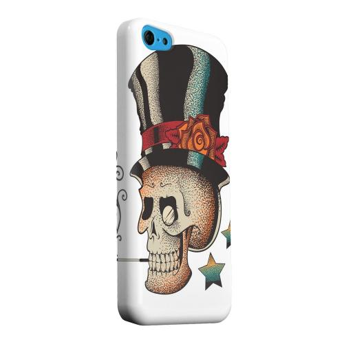 Geeks Designer Line (GDL) Apple iPhone 5C Matte Hard Back Cover - Smoking Skull on White