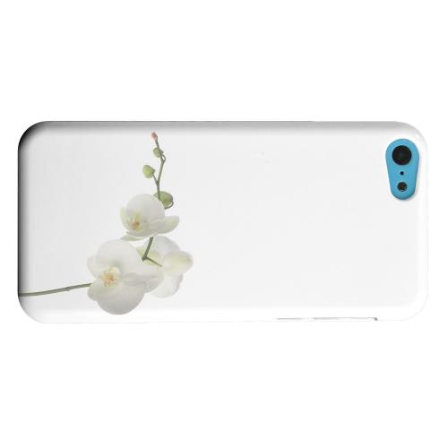 Geeks Designer Line (GDL) Apple iPhone 5C Matte Hard Back Cover - Simple White Orchid