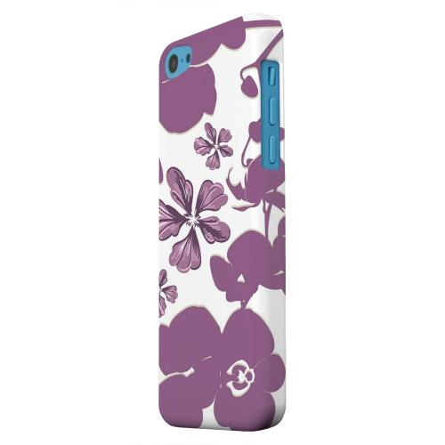 Geeks Designer Line (GDL) Apple iPhone 5C Matte Hard Back Cover - Purple Orchids