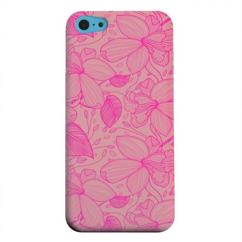 Geeks Designer Line (GDL) Apple iPhone 5C Matte Hard Back Cover - Pink on Pink Orchid Lines