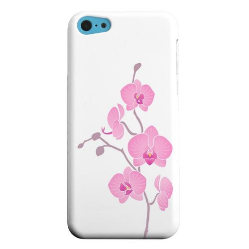 Geeks Designer Line (GDL) Apple iPhone 5C Matte Hard Back Cover - Pink Minimal Orchid Art