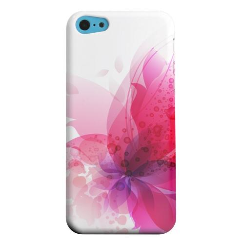 Geeks Designer Line (GDL) Apple iPhone 5C Matte Hard Back Cover - Hot Pink Orchid Swoosh Fade