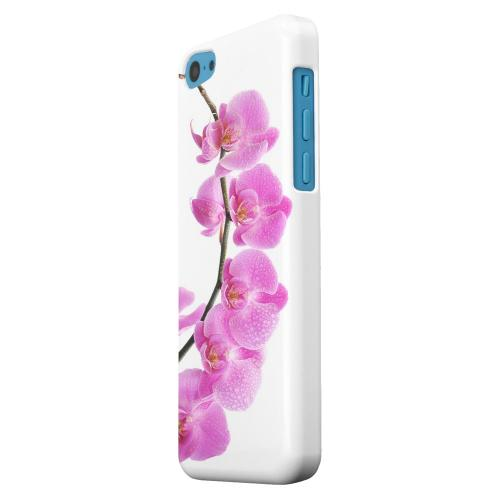 Geeks Designer Line (GDL) Apple iPhone 5C Matte Hard Back Cover - Hot Pink Orchid Curved Branch