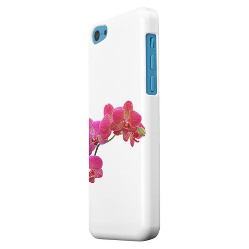Geeks Designer Line (GDL) Apple iPhone 5C Matte Hard Back Cover - Hot Pink Orchid Branch