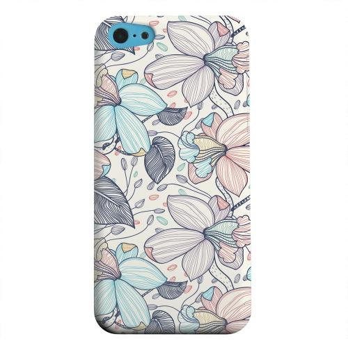 Geeks Designer Line (GDL) Apple iPhone 5C Matte Hard Back Cover - Colorful Orchid Lines