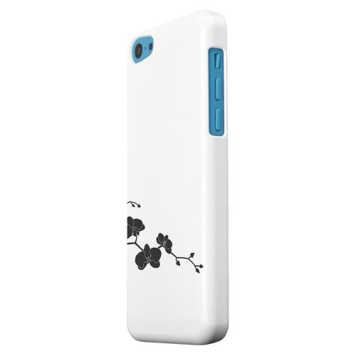 Geeks Designer Line (GDL) Apple iPhone 5C Matte Hard Back Cover - Clean Solid Black Orchid Art