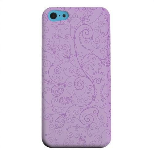 Geeks Designer Line (GDL) Apple iPhone 5C Matte Hard Back Cover - Floral 1 African Violet