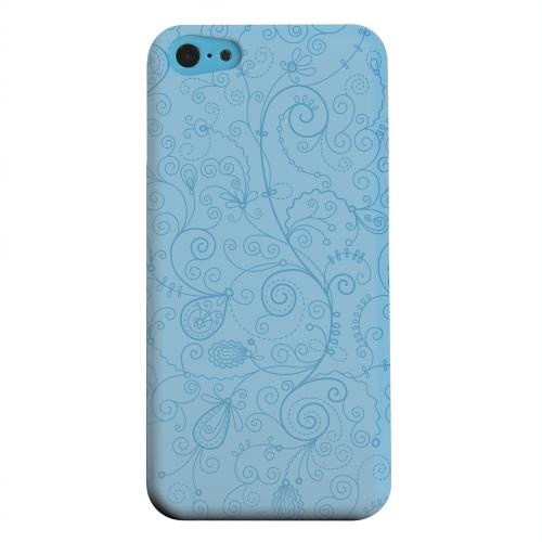 Geeks Designer Line (GDL) Apple iPhone 5C Matte Hard Back Cover - Floral 1 Dusk Blue