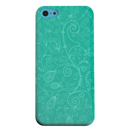 Geeks Designer Line (GDL) Apple iPhone 5C Matte Hard Back Cover - Floral 1 Emerald