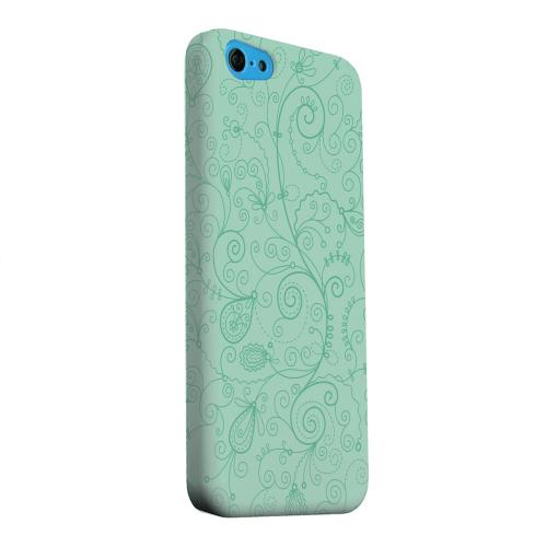 Geeks Designer Line (GDL) Apple iPhone 5C Matte Hard Back Cover - Floral 1 Grayed Jade
