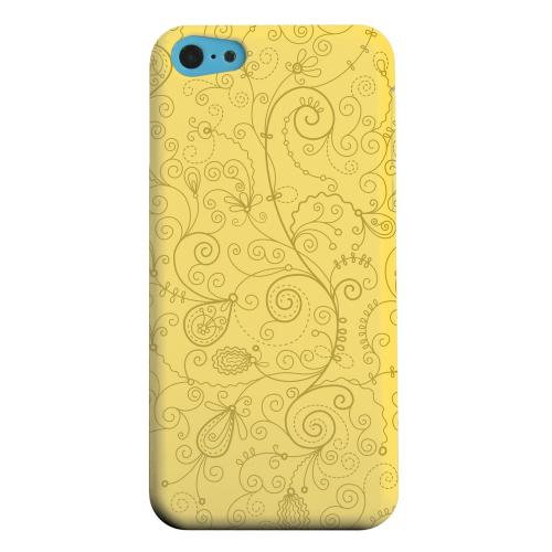 Geeks Designer Line (GDL) Apple iPhone 5C Matte Hard Back Cover - Floral 1 Lemon Zest
