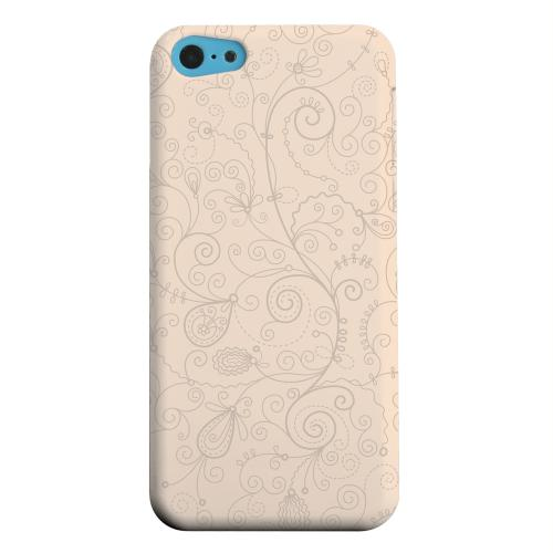 Geeks Designer Line (GDL) Apple iPhone 5C Matte Hard Back Cover - Floral 1 Linen