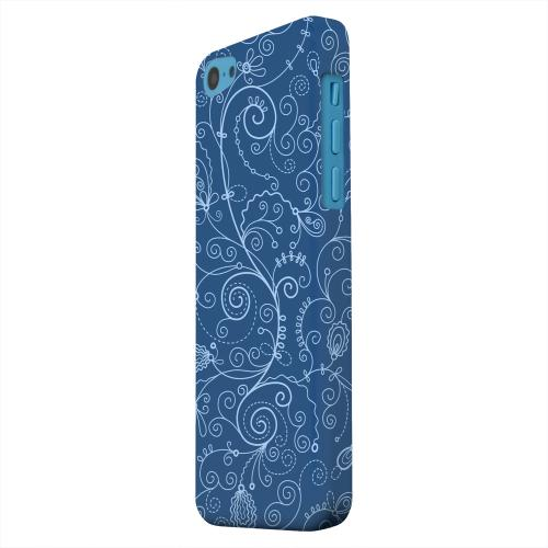 Geeks Designer Line (GDL) Apple iPhone 5C Matte Hard Back Cover - Floral 1 Monaco Blue