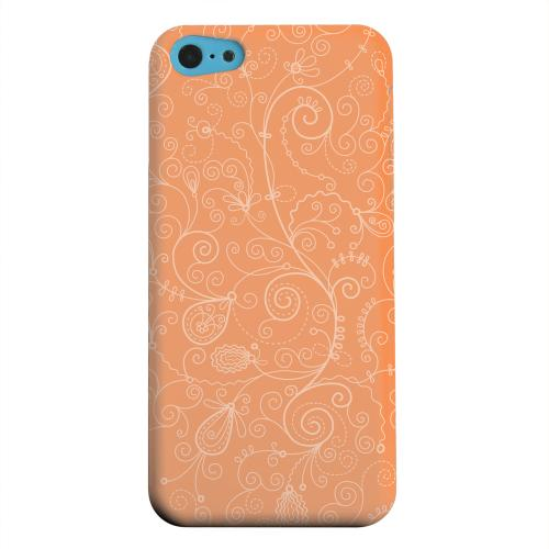 Geeks Designer Line (GDL) Apple iPhone 5C Matte Hard Back Cover - Floral 1 Nectarine