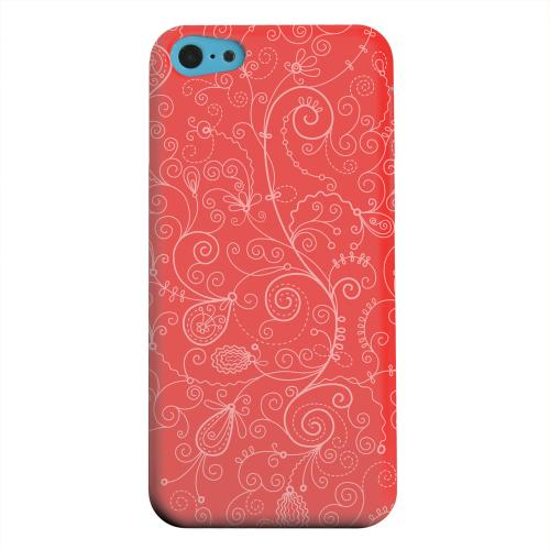Geeks Designer Line (GDL) Apple iPhone 5C Matte Hard Back Cover - Floral 1 Poppy Red